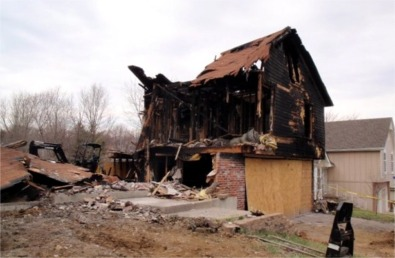 Reed Residence Total Fire Loss - Wentworth Contracting